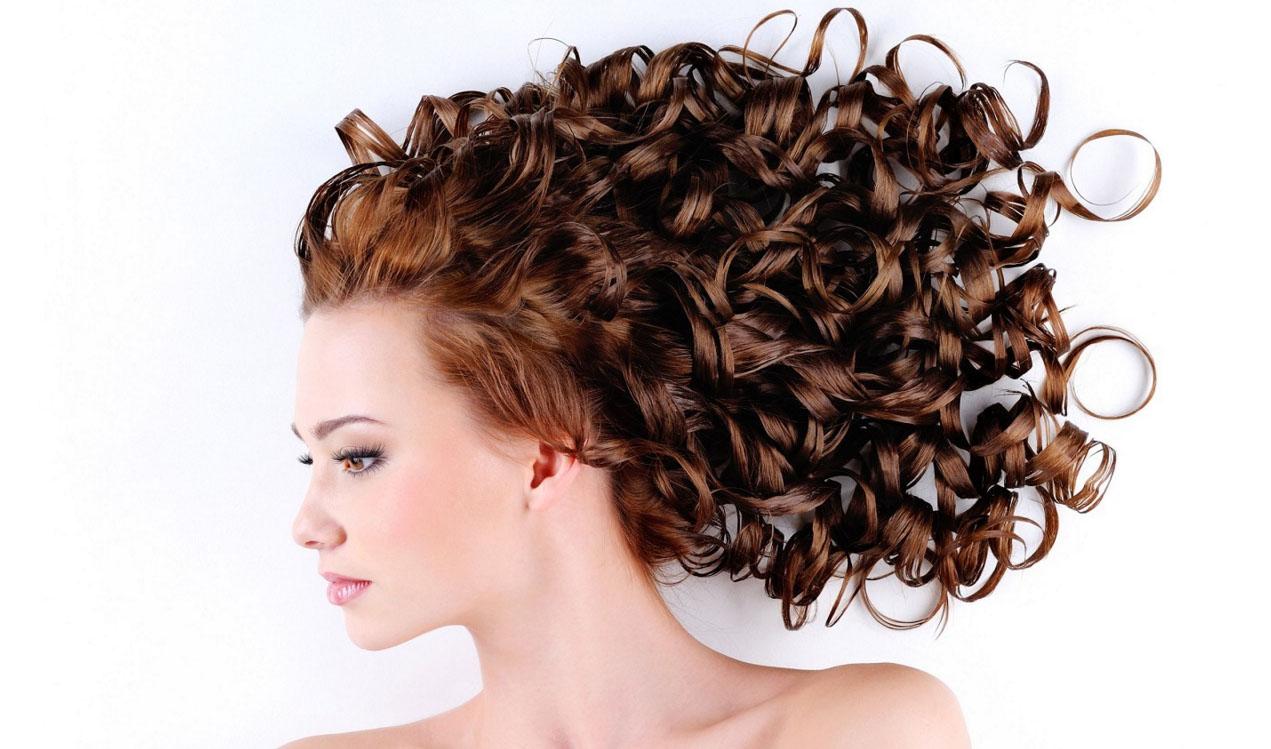 Волосы завитые тряпочками