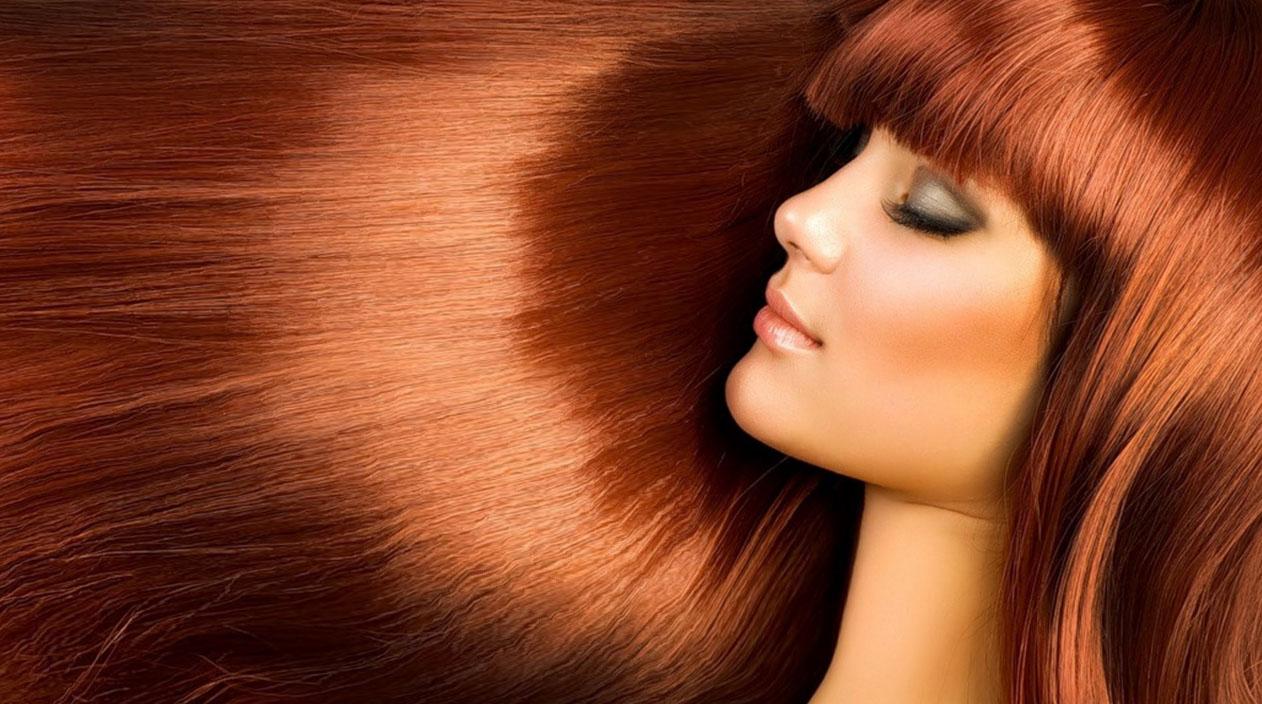 Здоровые крашенные волосы