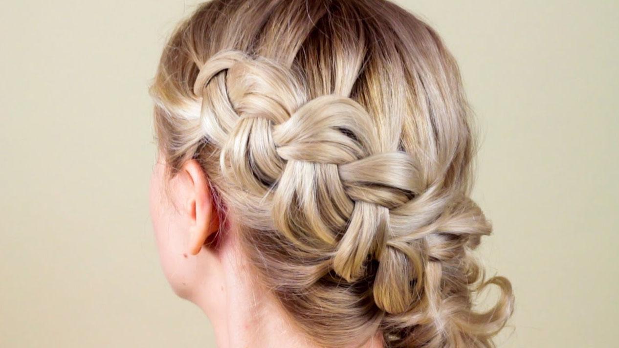 прическа с косой на длинные волосы видео