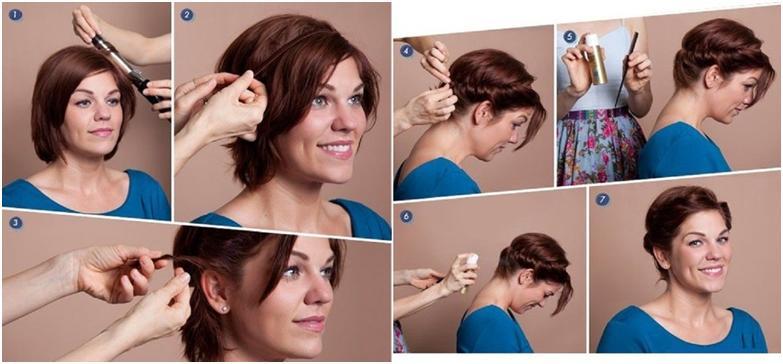 Как сделать самой прическу из коротких волос