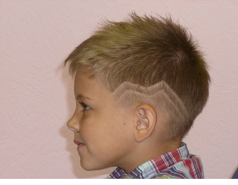 Узоры на голове на мальчиках