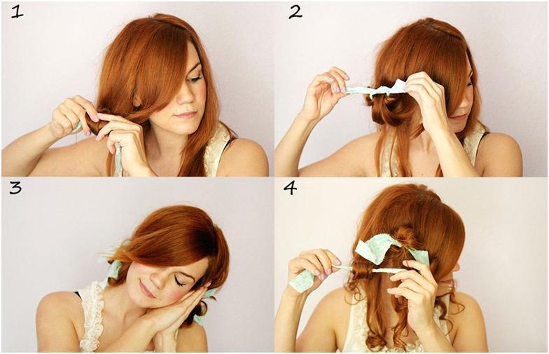 Как накрутить волосы на тряпочки пошаговая инструкция фото