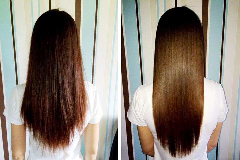 волосы до и после стрижки