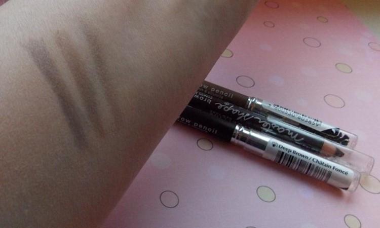 3 цвета карандашей для бровей