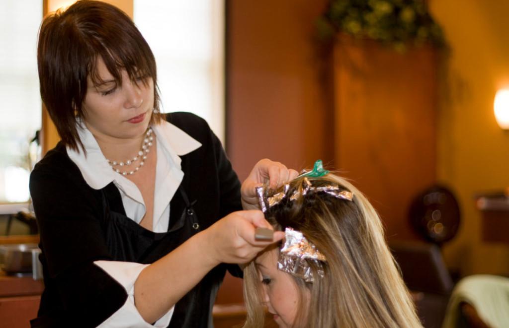 Тонирование волос время