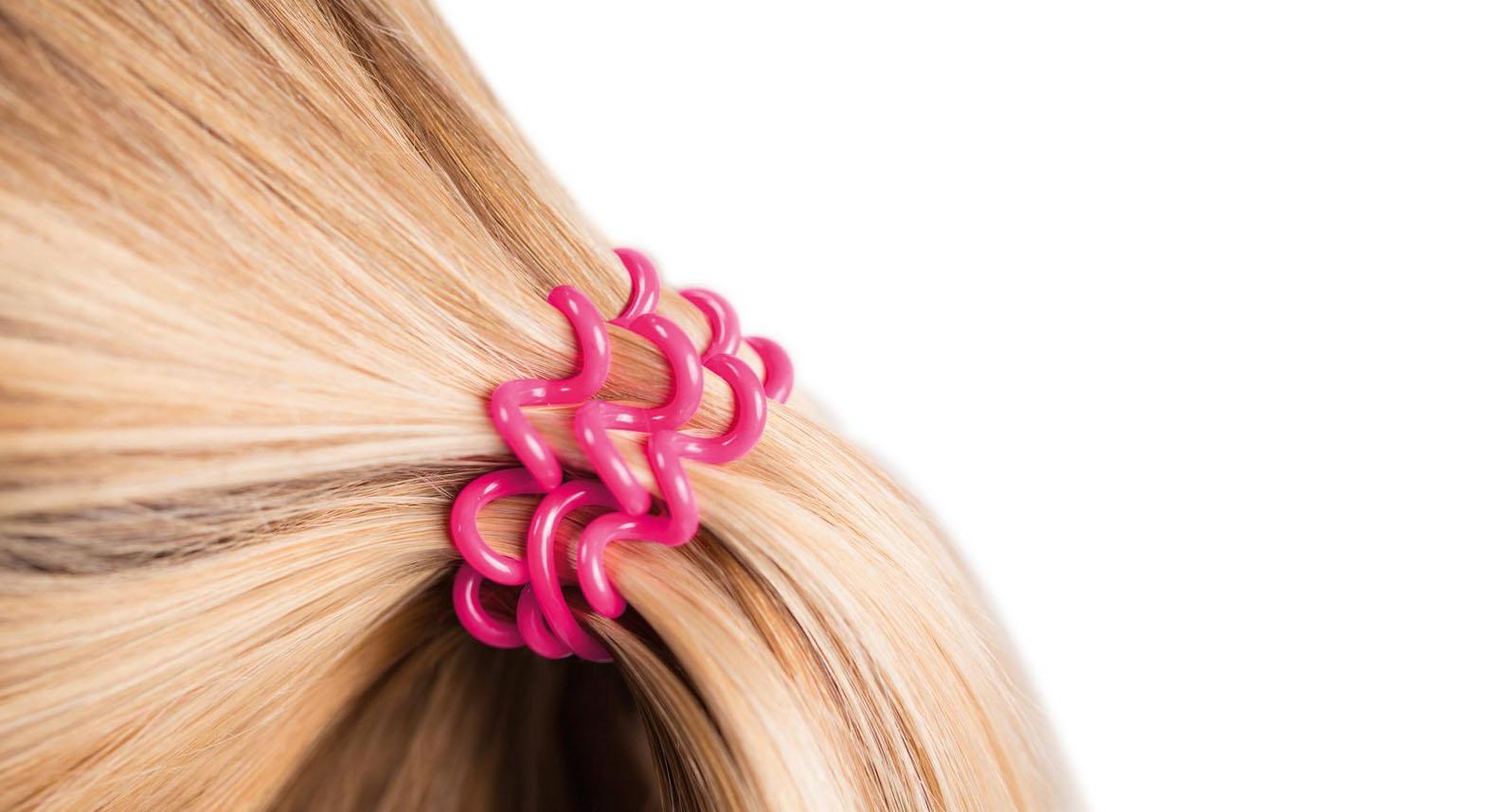 Резинки для волос спиральки прически