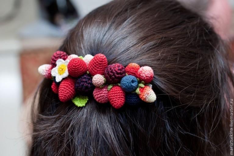 Вязаные резиночки для волос