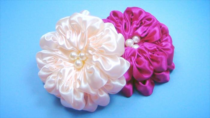 Цветы банты из лент