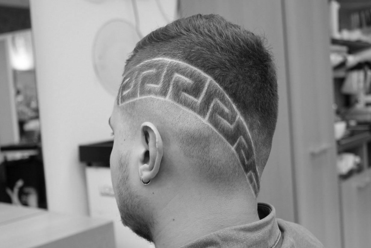 Мужские стрижки с рисунками на голове