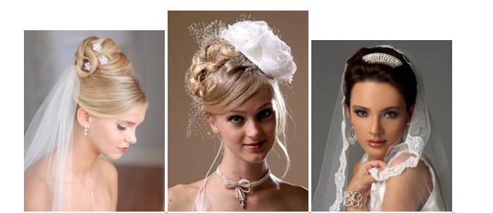 Прически на средние волосы для свадьбы