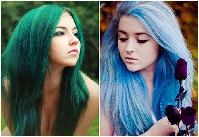Синие волосы в домашних условиях 36
