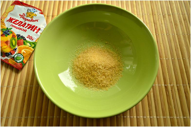 Пищевой желатин, приобретенный в магазине