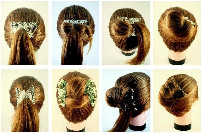 Однако необходимо помнить, что красиво заколоть распущенные волосы можно и с помощью удачно подобранного зажима