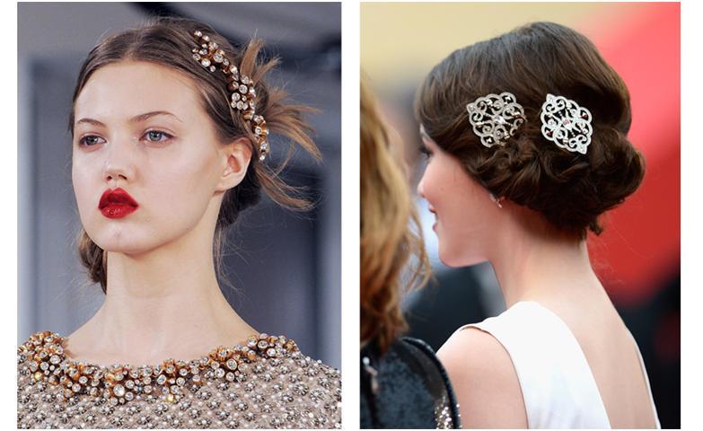 С помощью различных заколок можно уложить и украсить волосы любой длины так, что обычная повседневная прическа будет выглядеть стильно