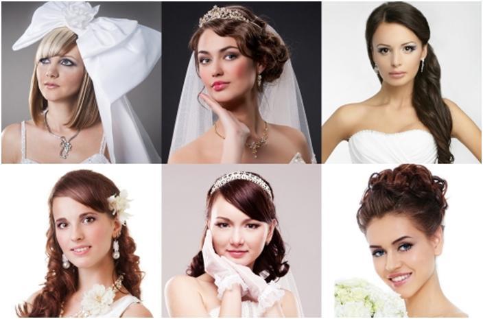 Прически для круглого лица с челкой на свадьбу