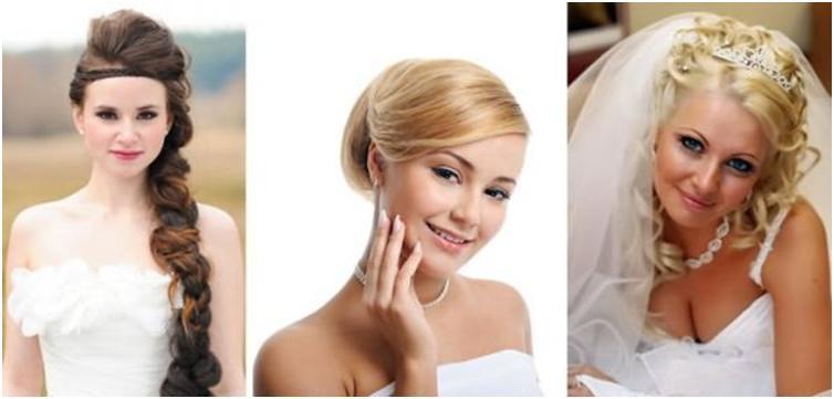 Свадебные прически на круглый тип лица