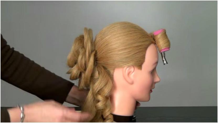 Прически роза из волос видео-урок