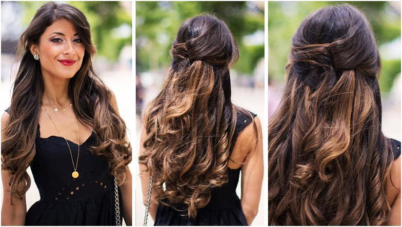 Собранные волосы прически повседневные