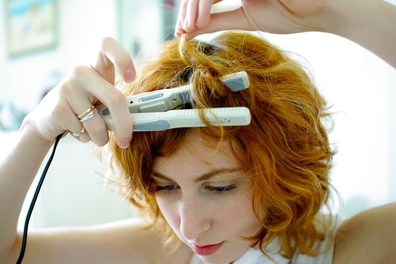 Завивка волос стайлером