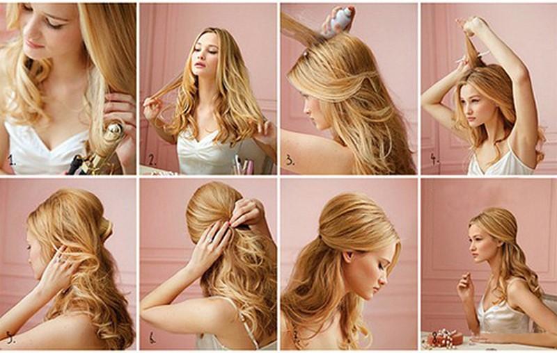 Сделать прическу на длинных волосах своими руками