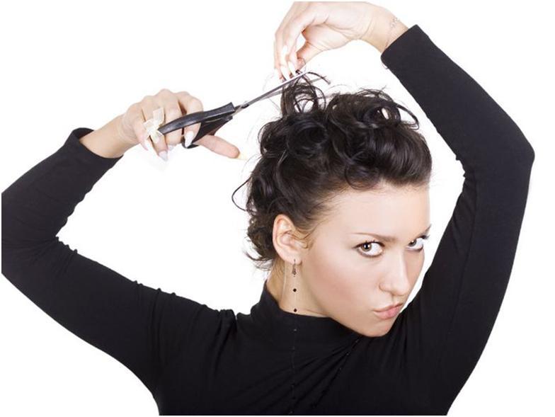 волосы самой подстригать сонник