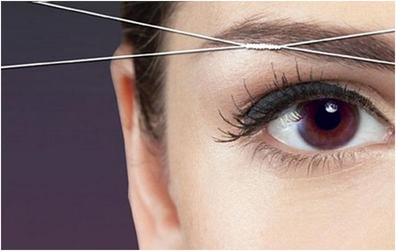 Удаление волосков нитью