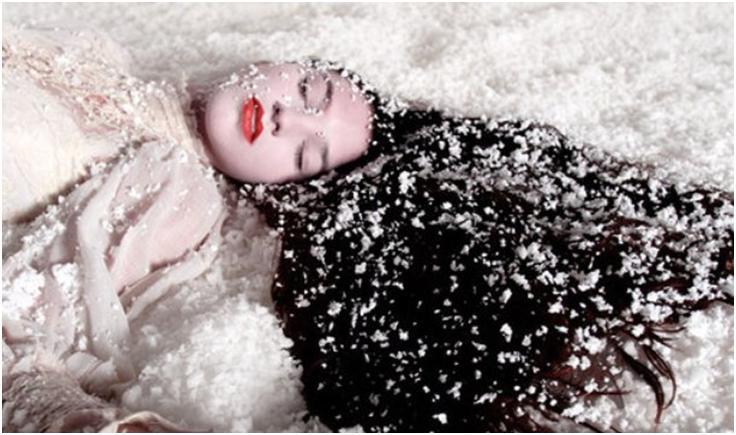 Снег на волосах