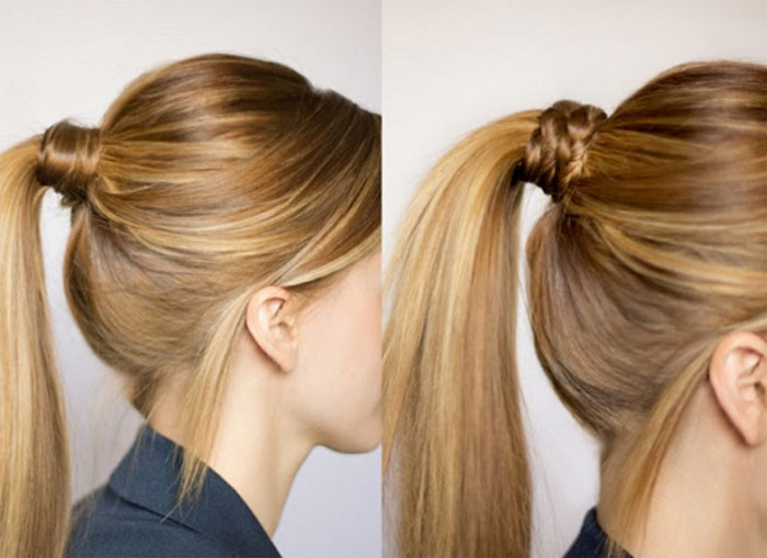 Прически на длинные волосы своими руками с хвостом