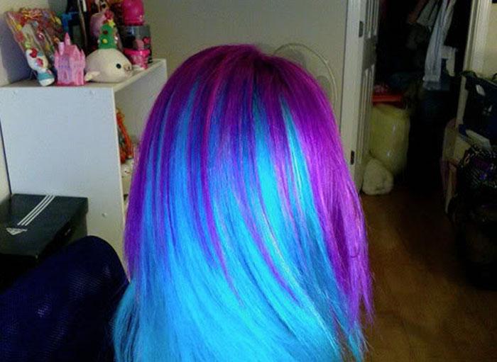 Синие волосы в домашних условиях 704