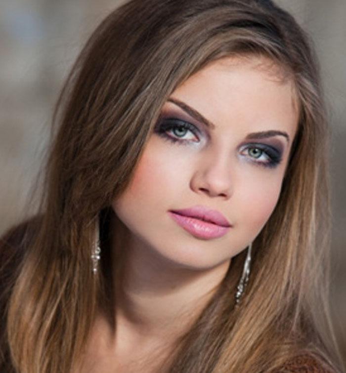 Макияж для зеленых глаз темно русые волосы