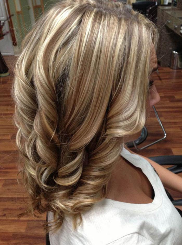 Прически на мелированные волосы средней длины