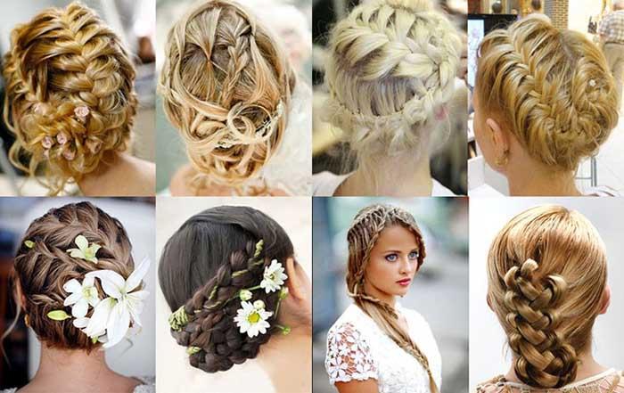 Прическа с плетением кос на средние волосы видео