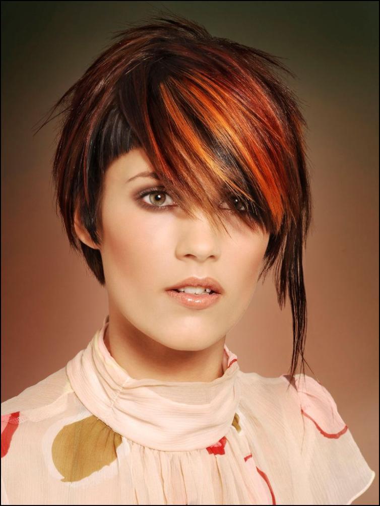 модные стрижки прически покраски 2009 г