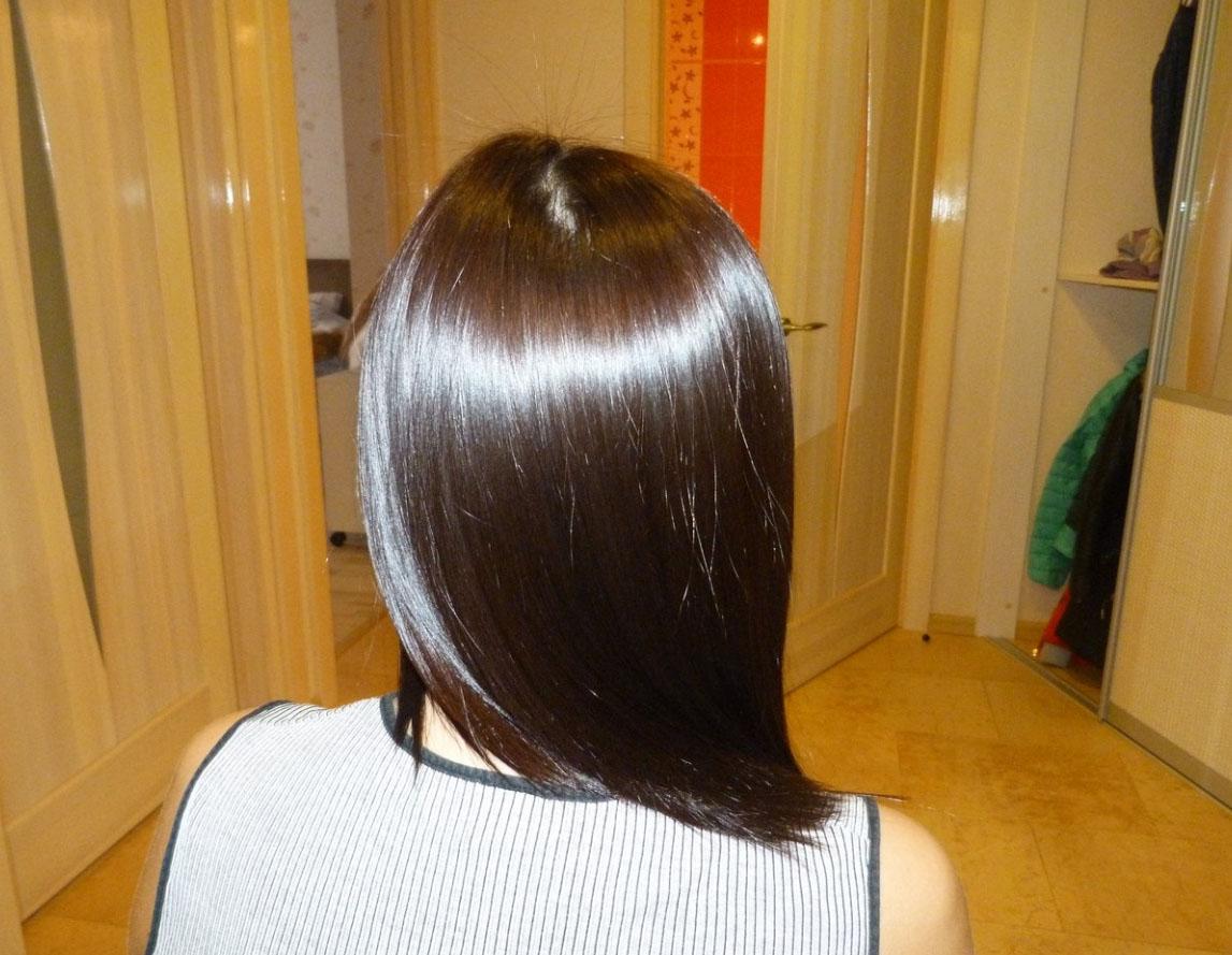 Волосы после глазирования