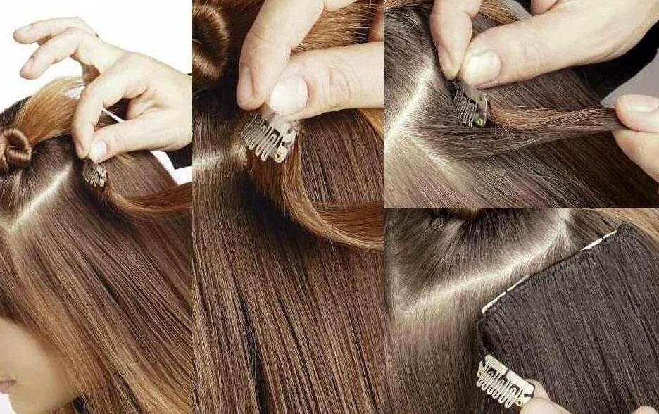 Крепление накладных волос