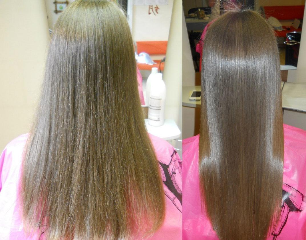 Кератиновое восстановление волос 60