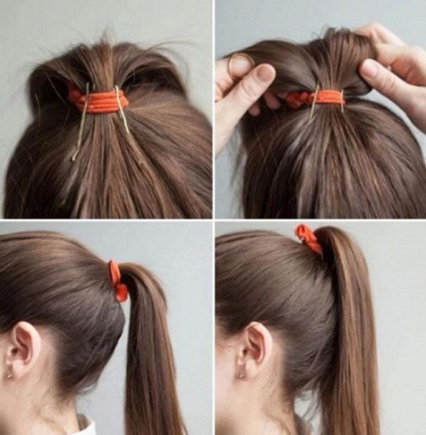 Как сделать красивый хвост на голове