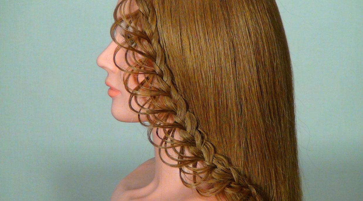 Радужное плетение волос