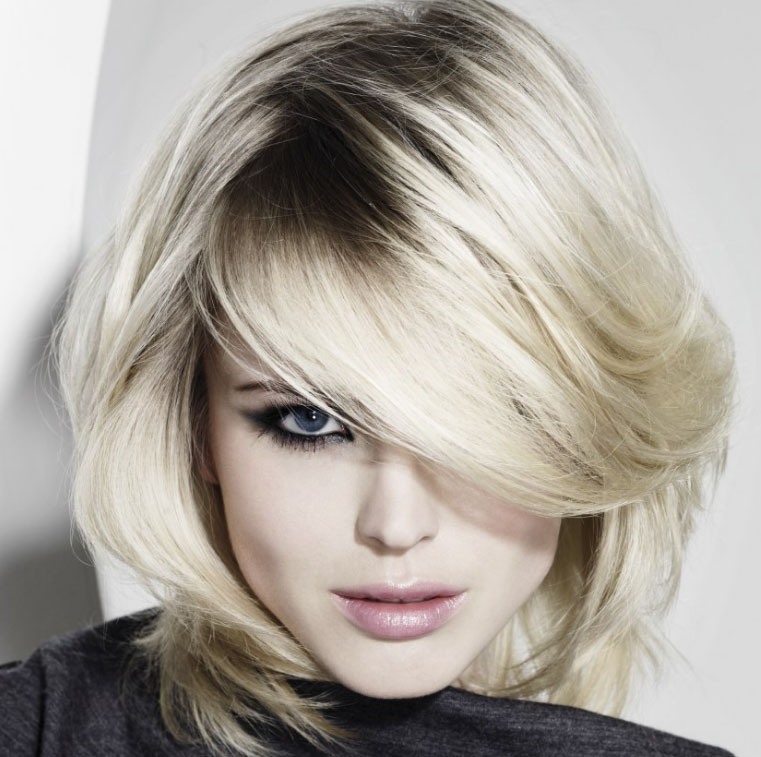 Укладка волос средней длины