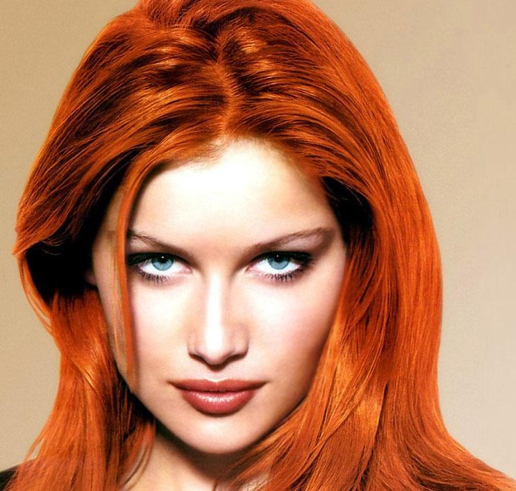 Яркий цвет волос после хны