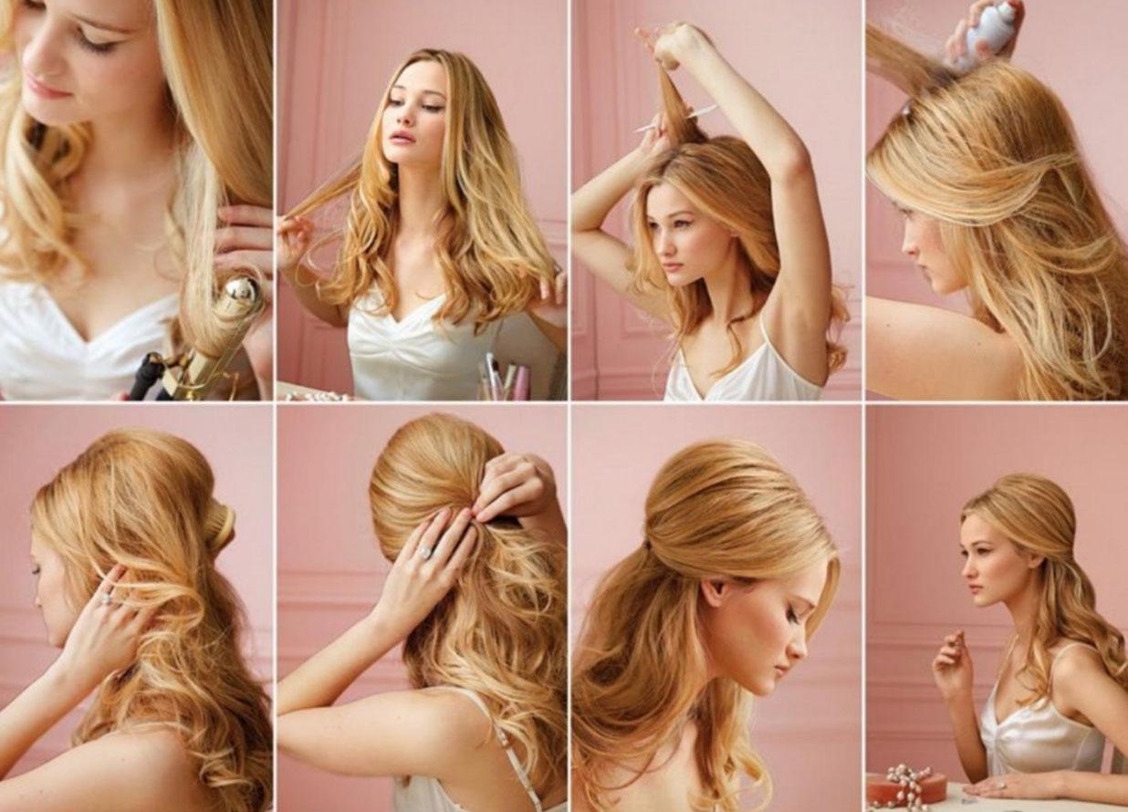 Простые причёски на длинные волосы фото пошагово на выпускной
