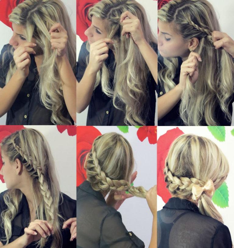 простые прически на длинные волосы с косой
