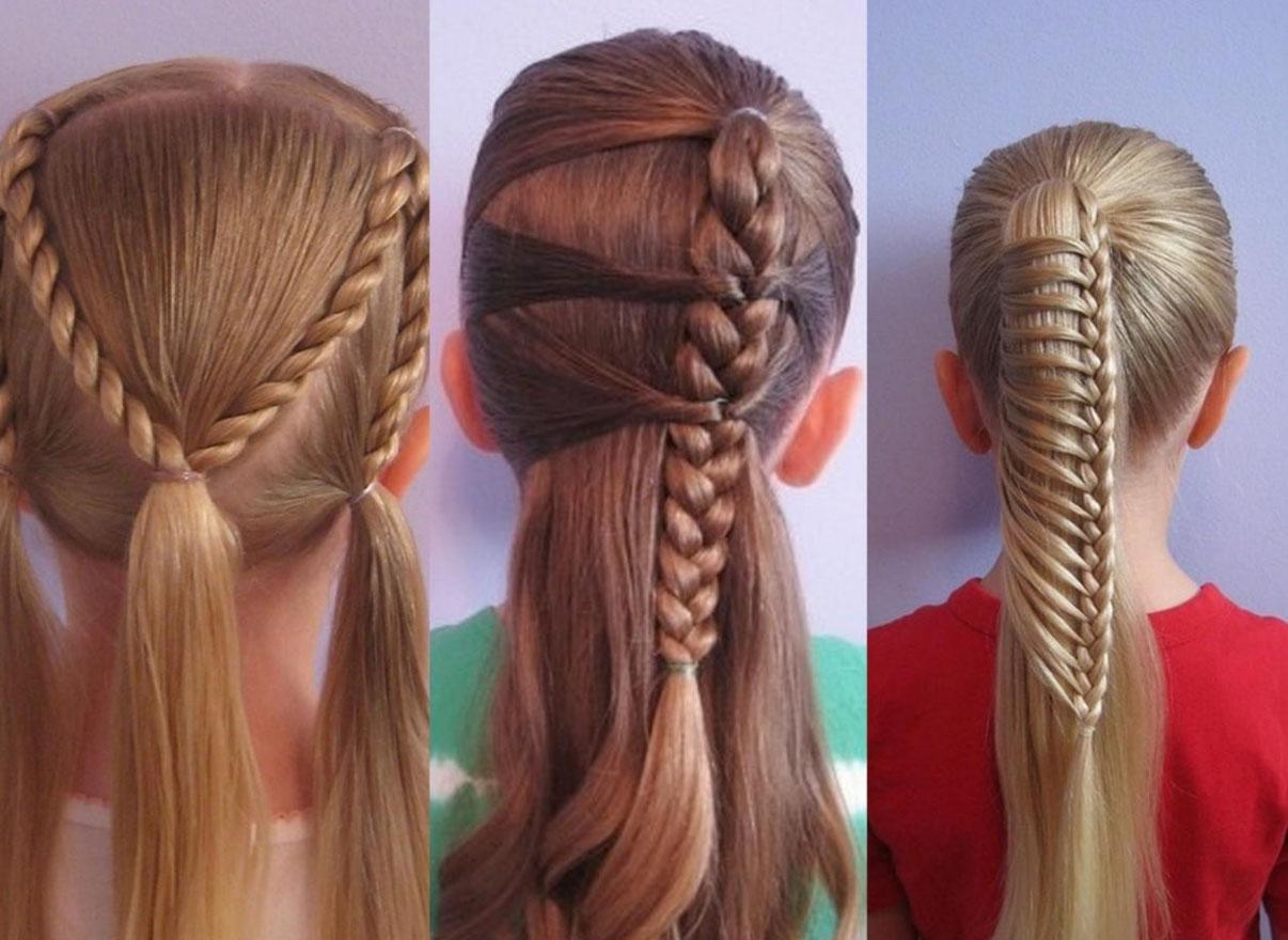 Красивые прически для девочки на средние волосы своими руками