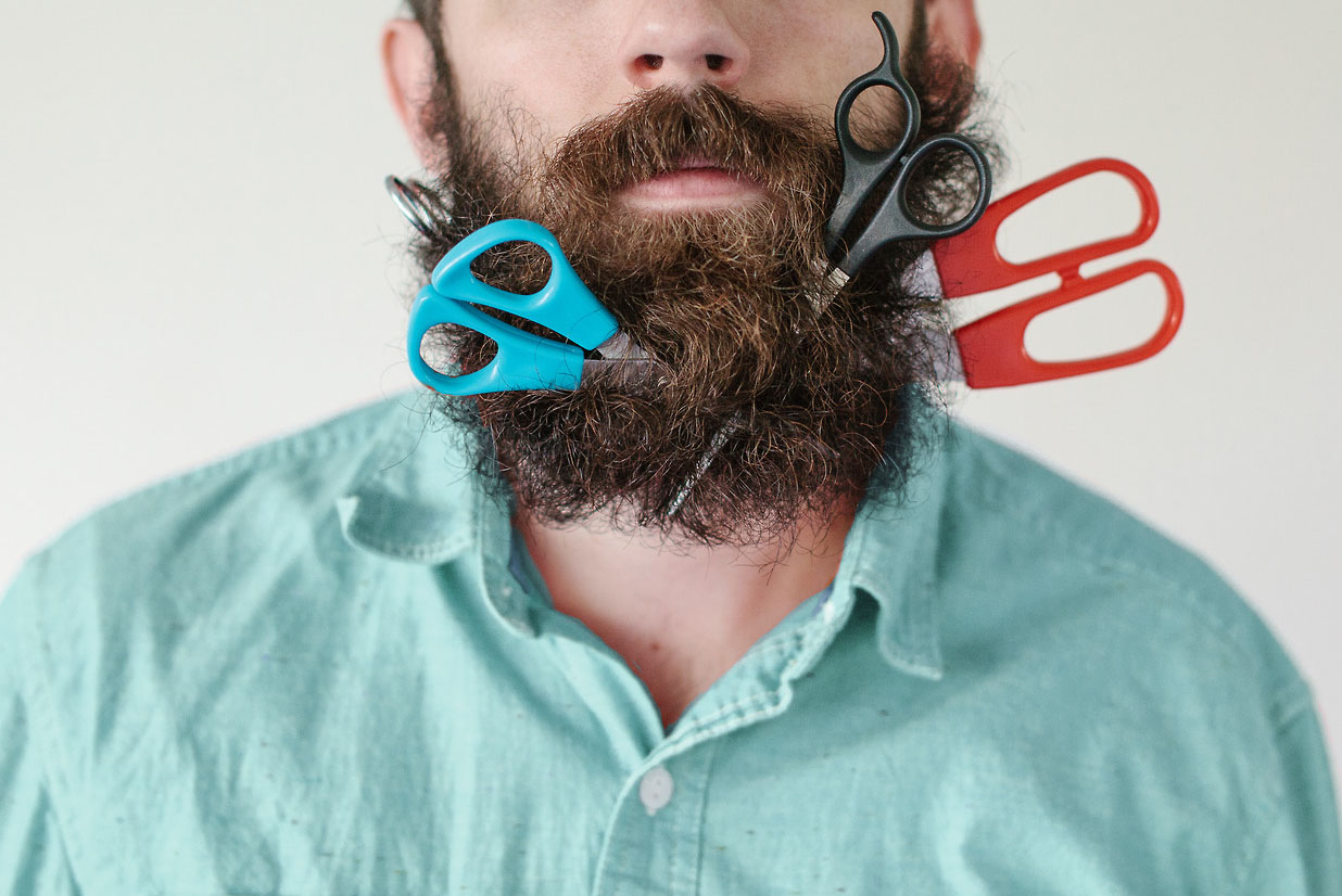 ножницы для бороды и усов