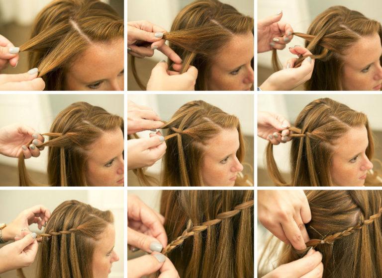 Как сделать прическу французская коса фото