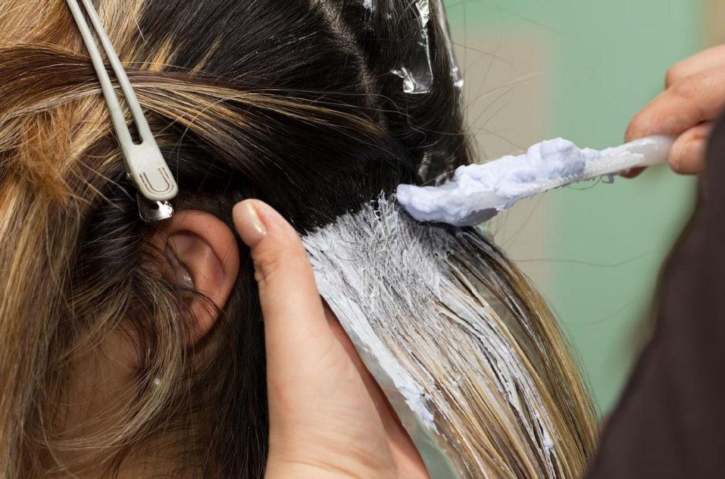 Обычное окрашивание волос