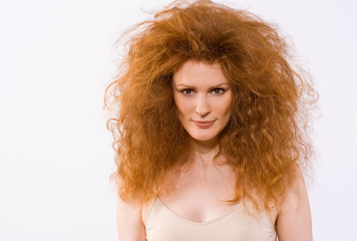 Как сделать сухие волосы пышными