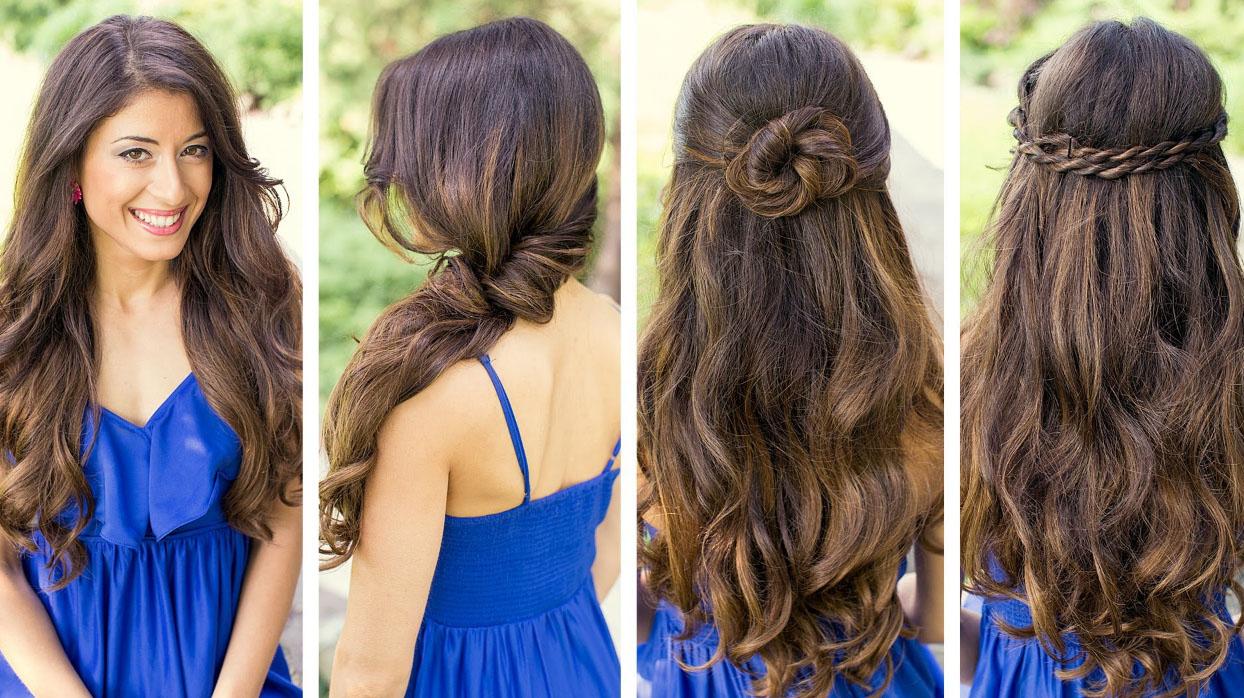 укладка распущенных длинных волос
