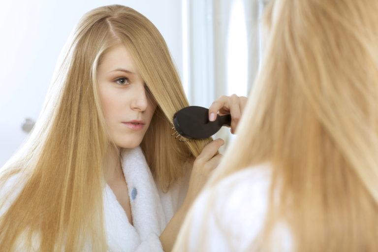 Как сделать чтобы волосы были уложенными 530