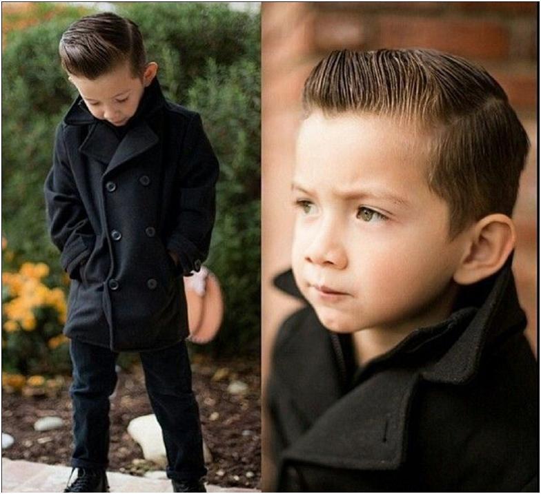 Детские прически на мальчика модные